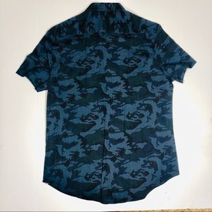 Sovereign Code Shirt Camouflage Blue Size Xl